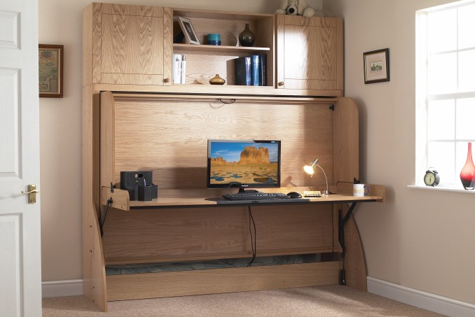 Small Double with Top Box in Light Oak