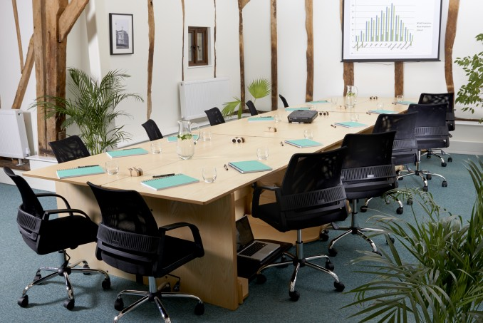 ConverTable Desk's transformed into a large conference table