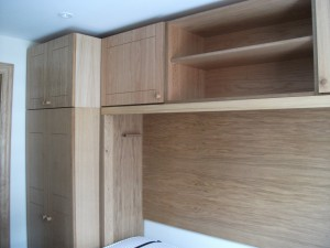Large Double in Light Oak with matching Top Box and Wardrobe