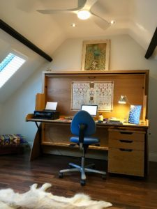 Double StudyBed in Attic Room