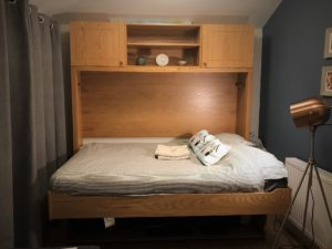Double StudyBed in Light Oak (Bed Mode)