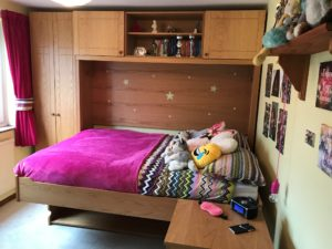 Double StudyBed with Matching Furniture (Bed Mode)