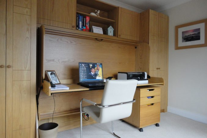 Small Double StudyBed with Two Wardrobes