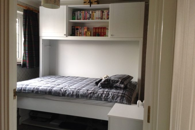 Small Double StudyBed in White (Bed Mode)