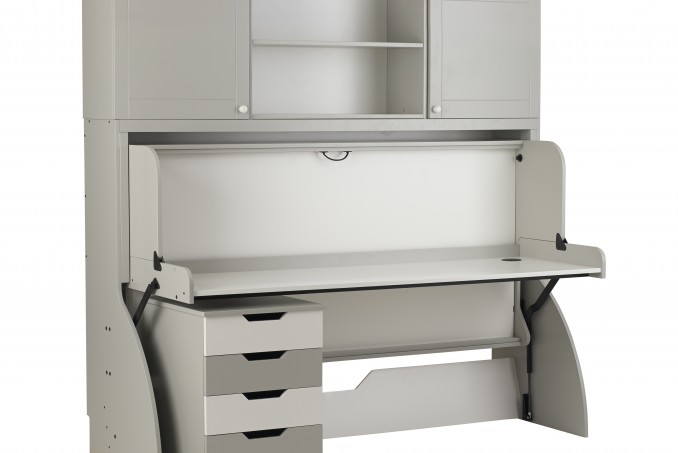 StudyBed Painted finish in grey and white (£2,628)