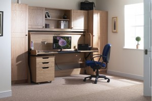 Single wardrobes matched to Single StudyBed in Light Oak